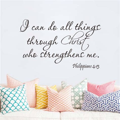philippians 4 13 i can do all thing bible quote home decal wall sticker family