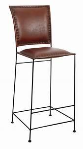 Tabouret De Bar Cuir : tabouret bar cuir mobilier design d coration d 39 int rieur ~ Teatrodelosmanantiales.com Idées de Décoration