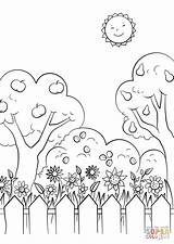 Coloring Garden Pages Printable Drawing Gnome Gardens Awesome Summer Print Categories Supercoloring sketch template