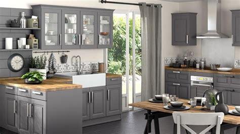 cuisine ouverte grise ophrey com cuisine grise et bois naturel prélèvement d