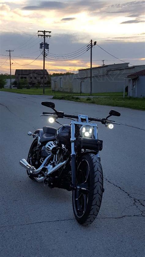 5 3 4 daymaker replacement blackout 5 3 4 quot led harley daymaker style headlight