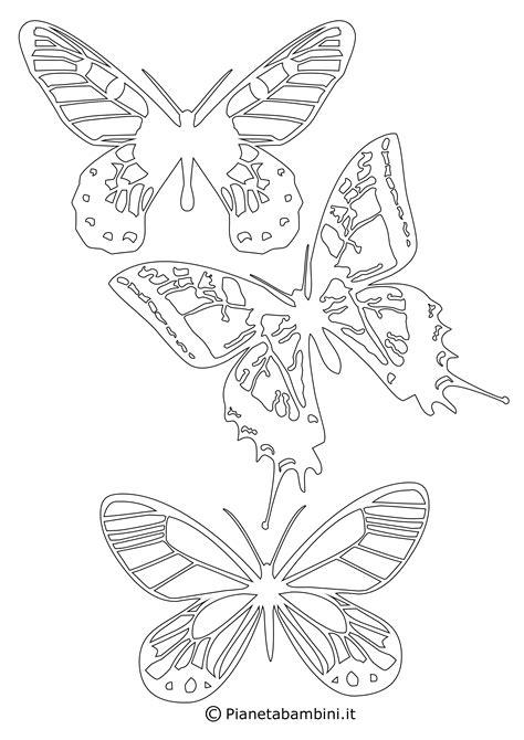 sagome  farfalle da colorare  ritagliare  bambini