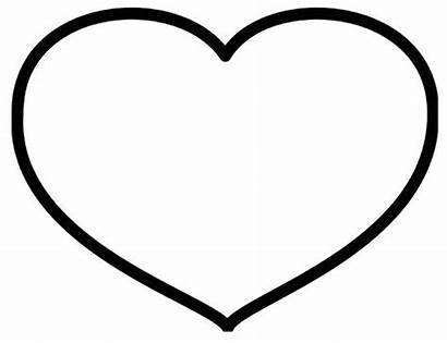 Heart Coloring Pages Clipart Valentines Template Clipartbest