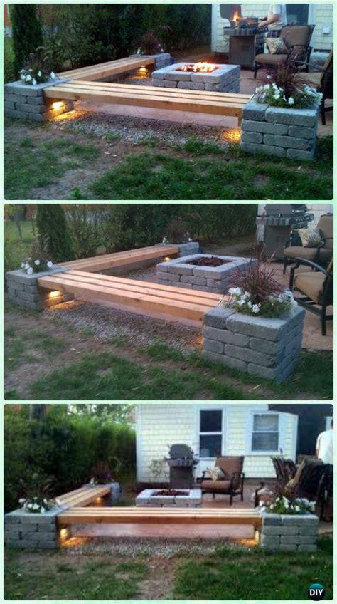 diy garden firepit patio projects  plans
