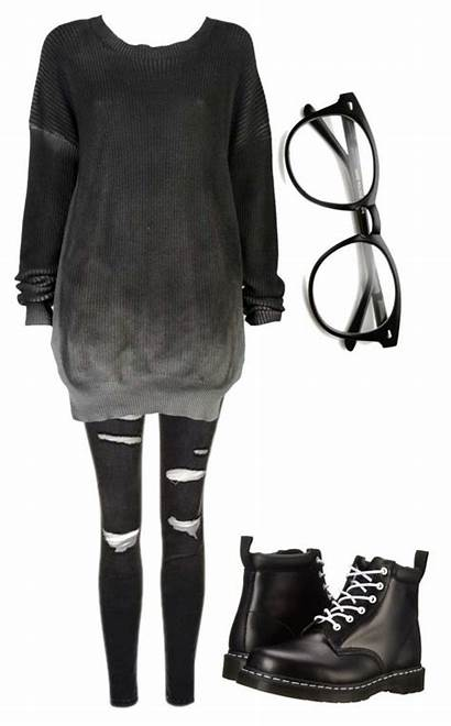 Outfits Winter Warm Emo Clothes Goth Casual
