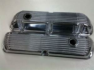 Sbf Ford 289 302 351w Finned Aluminum Valve Covers With