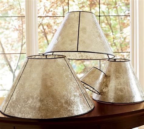 pb basic mica chandelier shades pottery barn