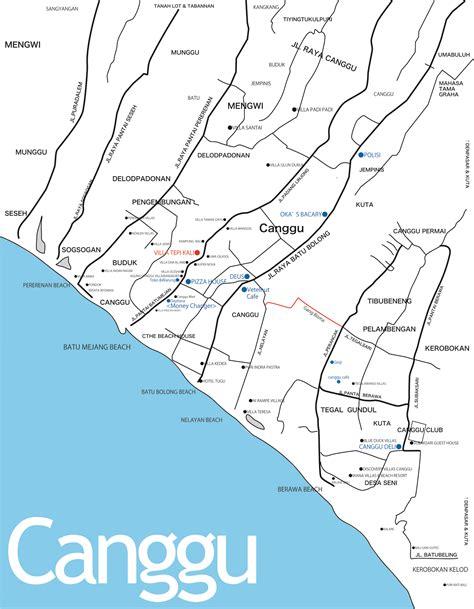 canggu area map villa tepi