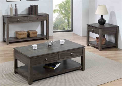dlu el    piece living room table set
