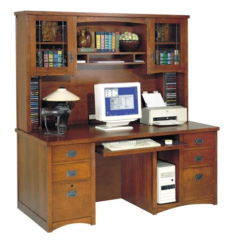 wood desk with hutch l shape brown wooden computer desk with five hutch feat