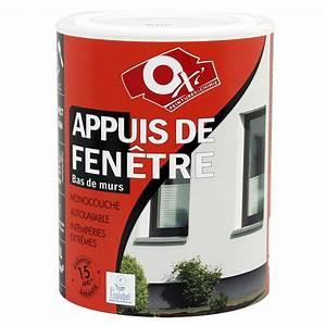 peinture appui de fenetre oxytol blanc 1 l leroy merlin With peinture appui de fenetre exterieur