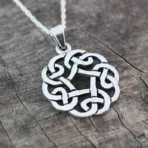 Celtic Knot Friendship Necklace . Sterling Silver Celtic Knot