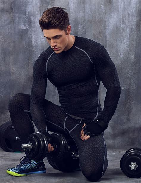 tights shirt joggers clothing for menfolks sweat shirt fitness t shirt sport