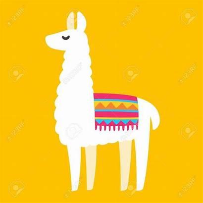 Llama Vector Cartoon Drawing Simple Clip Clipart