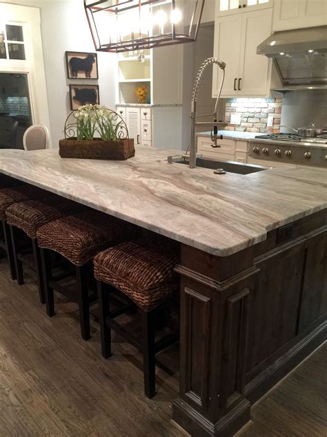 Brown Granite Countertops by Transitional Farmhouse With Leathered Granite