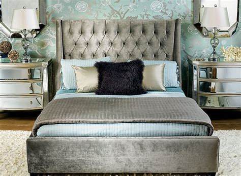 Velvet Upholstered King Headboard by Decorating Theme Bedrooms Maries Manor Hollywood Glam