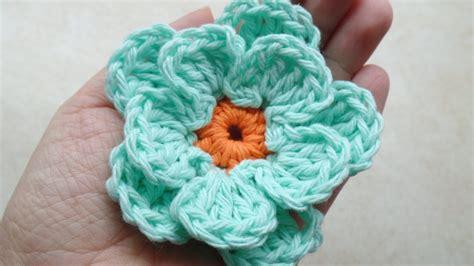 crochet easy flower tutorial  bagoday crochet youtube