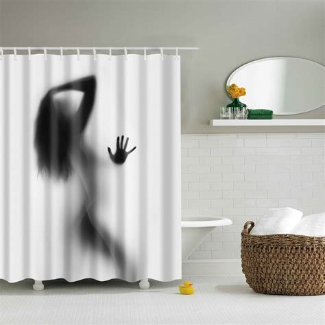 custom bathroom shower curtains portrait decor bathroom shower curtains shadow