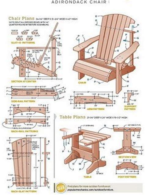 adirondack chair patterns woodworking projects plans