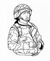 Coloring Army Pages Printable Soldier Military Colouring Sheets Soldiers Drawings Drawing sketch template