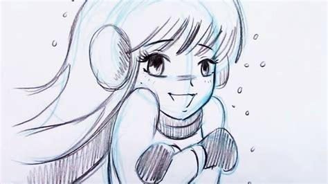 draw  anime style girl  beginners youtube