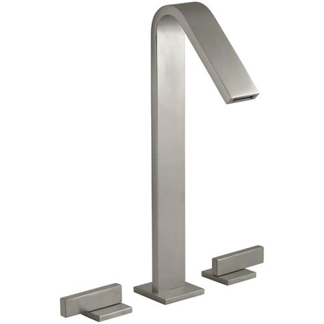 kohler loure freestanding tub filler shop kohler loure vibrant brushed nickel 2 handle