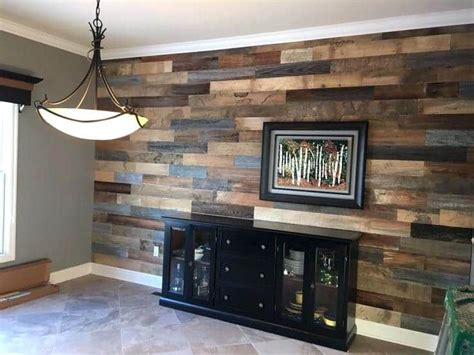 wood accent wall   tiny home shrink  home