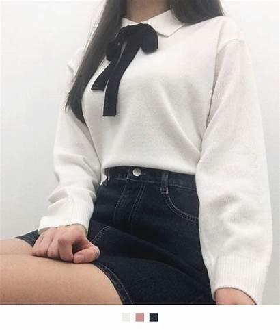 Outfits Korean Casual Skirt Wearing Asian Street