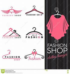 fashion shop logo sweet ping shirts and clothes hanger With clothing logo design maker