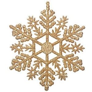 lewis glitter snowflakes gold set of 12 lewis polyvore