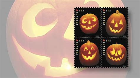 jack  lantern stamps   issued  halloween