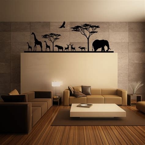 sticker chambre adulte sticker savane africaine et ses animaux