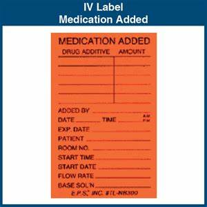 iv label medication added 2quot x 3quot 1000 labels With iv medication labels