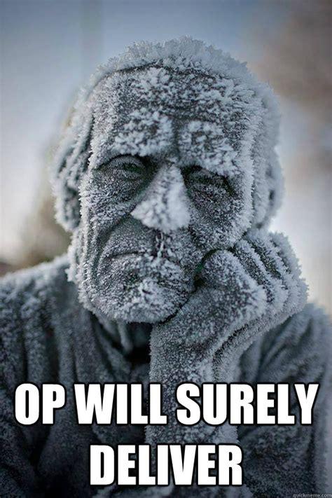 Op Meme - op will surely deliver frozen in time quickmeme