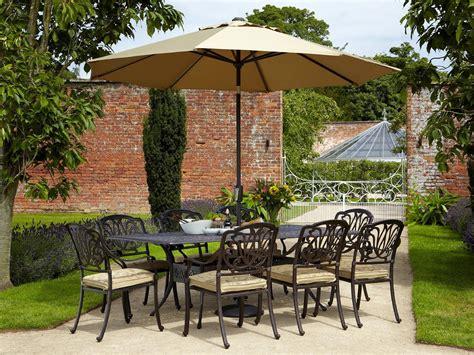 hartman amalfi 8 seat rectangular set garden world
