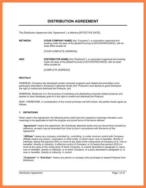 Exclusive Agreement Template Costumepartyrun