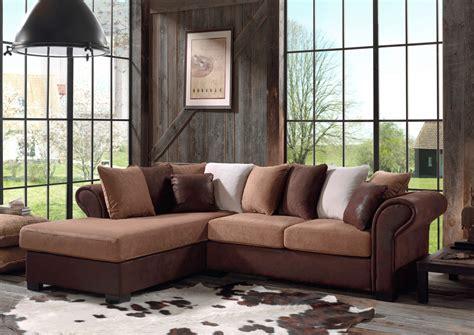 canapé d angle en tissu canapé d 39 angle fixe contemporain en tissu brun sally