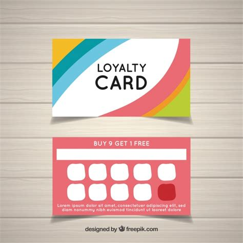 vector colorful loyalty card template