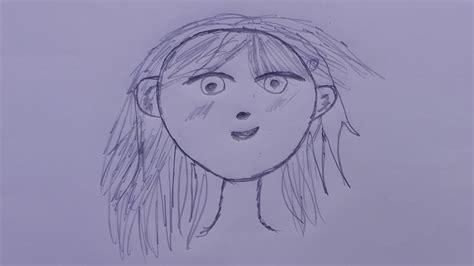 draw anime hair step  step anime hair girl anime