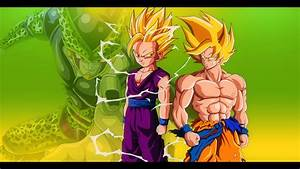 Goku and Gohan vs Cell - DBZ Wallpaper 1920*1080 by ...