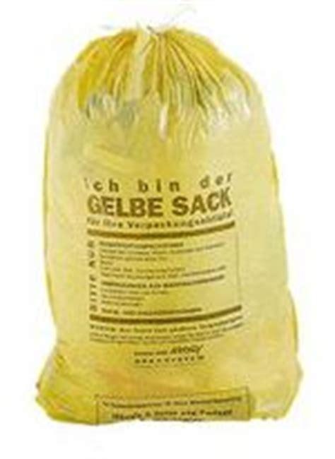 gelber wertstoffsack entsorgung mettlach