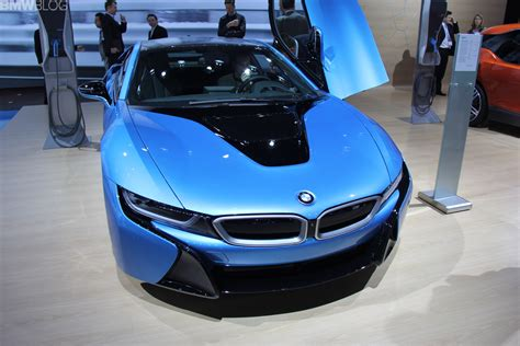 Bmw Neuheiten Ny Auto Show 2015 by 2014 Nyias Bmw I8 In Protonic Blue