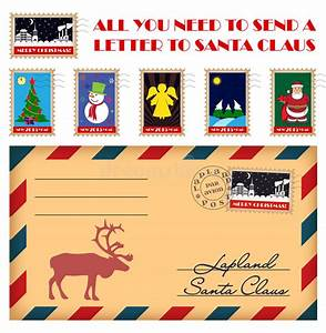 vector christmas and new year stamps and envelope stock With stamps to send a letter