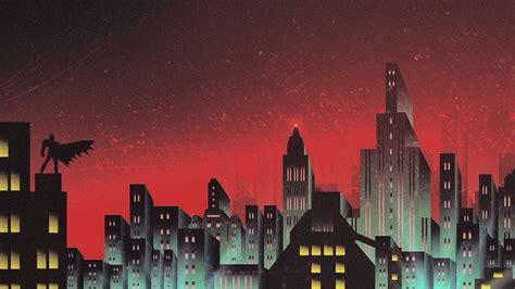 batman gotham skyline artwork wallpapers hd wallpapers