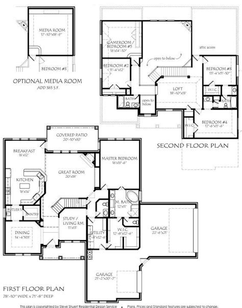 house plans with media room 2 3885 square air conditioning optional