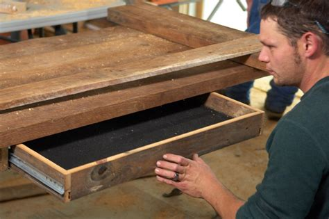 how to make a desk how to build a reclaimed wood office desk how tos diy