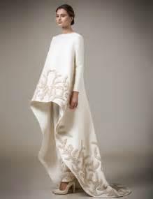 Ivory Handmade Appliques Muslim Evening Dresses Long Sleeves 2016 Chic High Low Moroccan Kaftan