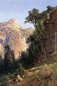 Thomas Hill Yosemite Valley Painting