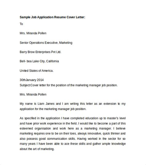 sample resume cover letter template   documents