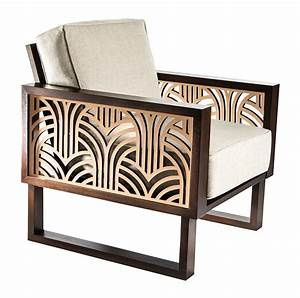Art Deco Lounge Chair - Twist Modern